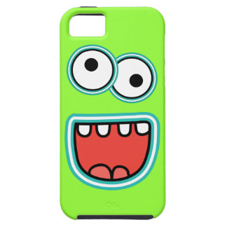 Silly Cartoon Monster Face Grin iPhone 5 Covers