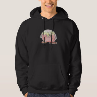silly cartoon pastry cream puff character hooded pullovers