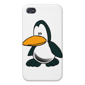 Silly Cartoon Penguin Cover For iPhone 4