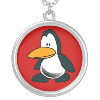 Silly Cartoon Penguin Necklace