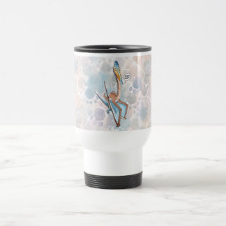 Silly Cartoon Quetzalcoatlus Pterosaur 15 Oz Stainless Steel Travel Mug