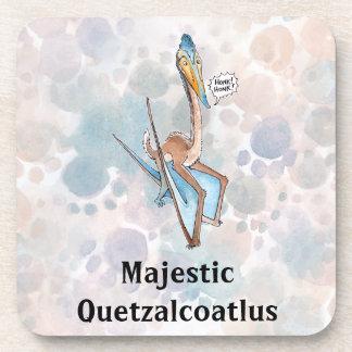 Silly Cartoon Quetzalcoatlus Pterosaur Drink Coaster