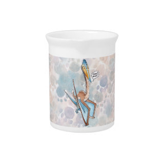 Silly Cartoon Quetzalcoatlus Pterosaur Drink Pitcher