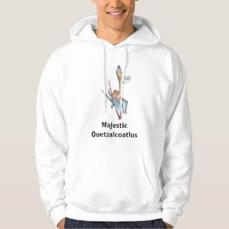 Silly Cartoon Quetzalcoatlus Pterosaur Hooded Pullover