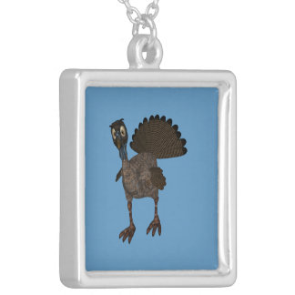 Silly Cartoon Style Turkey Silver Plated Necklace