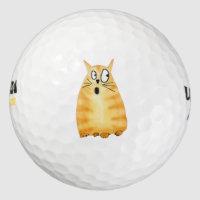 Silly Cat Golf Balls