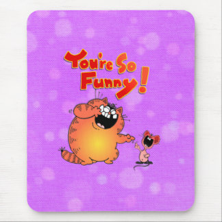 silly cat mouse pad