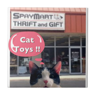Silly Cat Toys! Tile