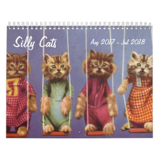 Silly Cats and Kittens - Aug 2017 - Jul 2018 Calendar