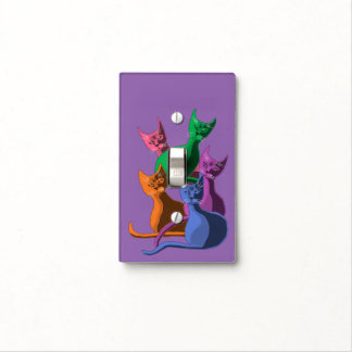 Silly Cats Light Switch Cover