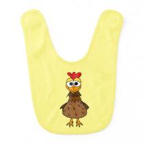 Silly Chicken Baby Bib