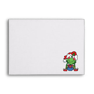 silly christmas froggy elf envelopes