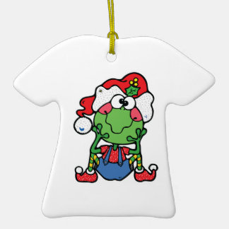 silly christmas froggy elf Double-Sided T-Shirt ceramic christmas ornament