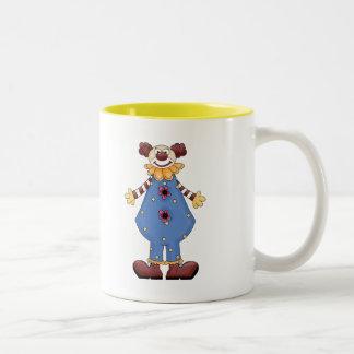 Silly Circus Clown Two-Tone Coffee Mug
