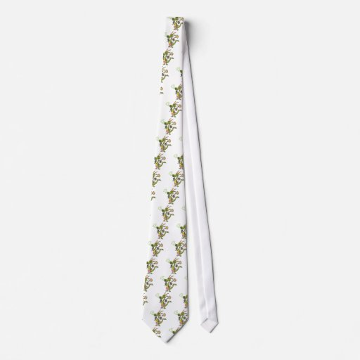 silly cleaning dragon lady cartoon tie
