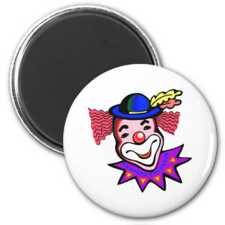 silly clown head refrigerator magnets