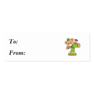 Silly Clown Teddy Bear Business Cards