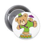 Silly Clown Teddy Bear Buttons