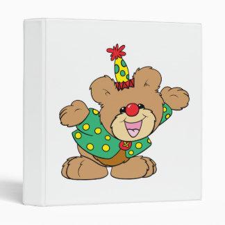 silly clown teddy bear design binder