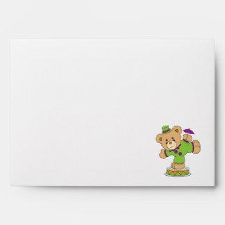 Silly Clown Teddy Bear Envelope