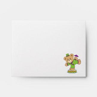 Silly Clown Teddy Bear Envelopes