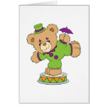 Silly Clown Teddy Bear Greeting Card