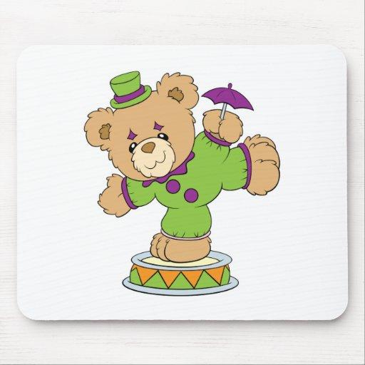 Silly Clown Teddy Bear Mouse Pad