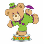 Silly Clown Teddy Bear Photo Sculpture