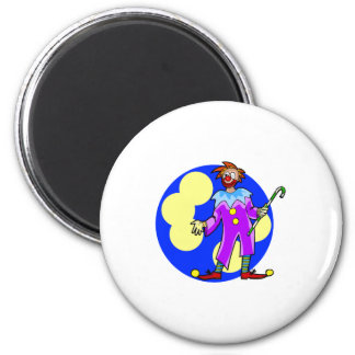 Silly Clown with Cane Magnets