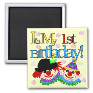 Silly Clowns 1st Birthday Tshirts and Gifts Magnet