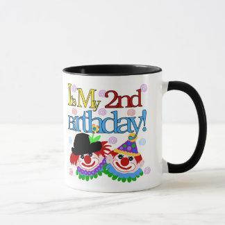 Silly  Clowns 2nd Birthday Mug