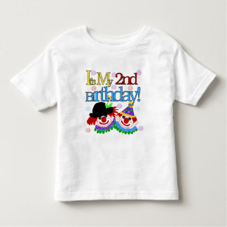 Silly  Clowns 2nd Birthday Tshirts and Gifts