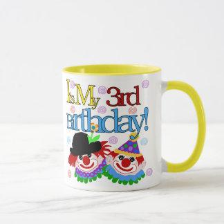 Silly Clowns 3rd Birthday Mug