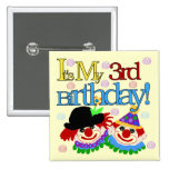 Silly Clowns 3rd Birthday Tshirts and Gifts Buttons