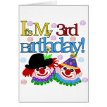 Silly Clowns 3rd Birthday Tshirts and Gifts Greeting Card