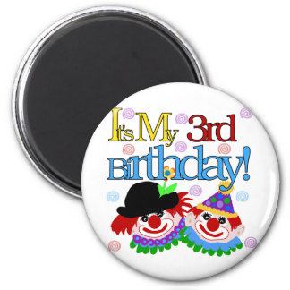 Silly Clowns 3rd Birthday Tshirts and Gifts Refrigerator Magnet