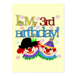 Silly Clowns 3rd Birthday Tshirts and Gifts Postcard