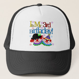 Silly Clowns 3rd Birthday Tshirts and Gifts Trucker Hat