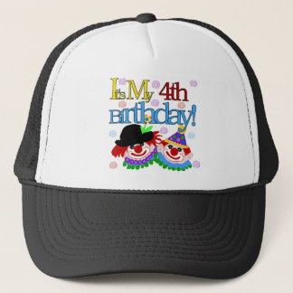 Silly Clowns 4th Birthday Tshirts and Gifts Trucker Hat
