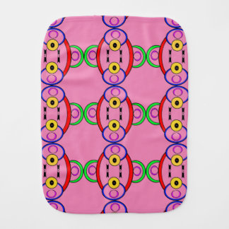 Silly Colored Clown Burp Cloth