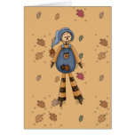 silly country scarecrow greeting card