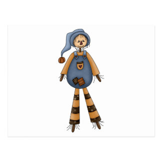 silly country scarecrow post cards