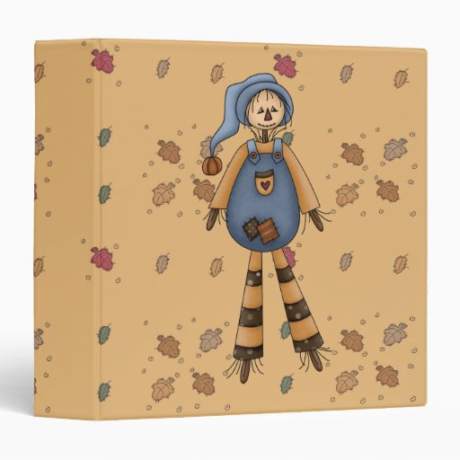 silly country scarecrow vinyl binder