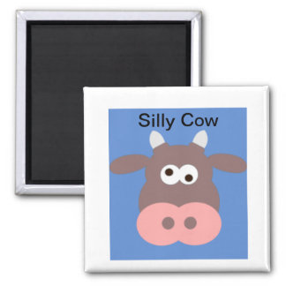 Silly cow magnet