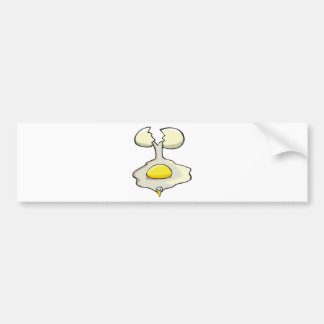 silly cracked egg bumper stickers