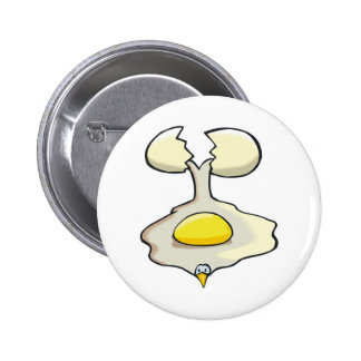 silly cracked egg pin
