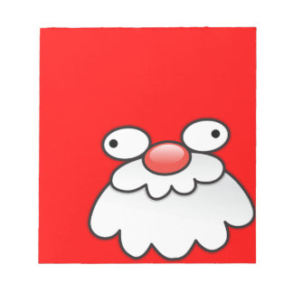 Silly Crazy Santa face! Memo Note Pad