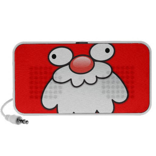 Silly Crazy Santa face! Travel Speaker