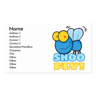 silly cute cartoon character SHOO FLY Business Card Templates