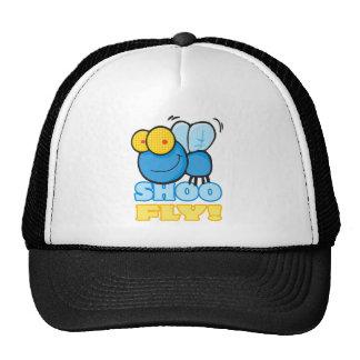 silly cute cartoon character SHOO FLY Mesh Hats